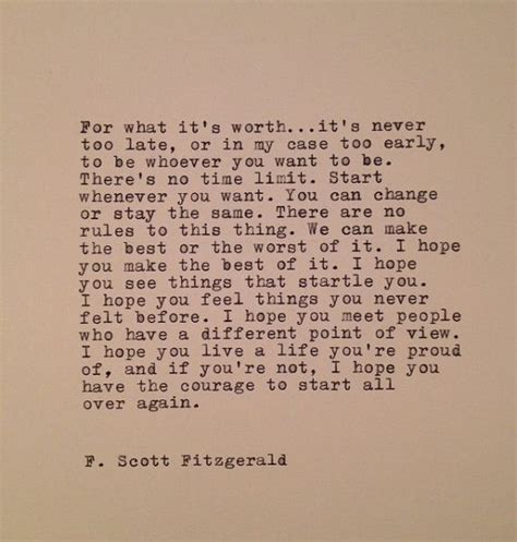 F Fitzgerald Quotes Worth Waiting For by F Fitzgerald Typed Quote Made On Typewriter