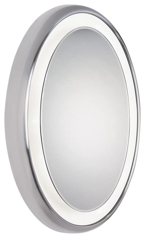 Modern Oval Bathroom Mirrors Tigris Oval Mirror By Tech Lighting Contemporary