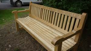 wooden patio bench bench engraving memorial benches the wooden workshop