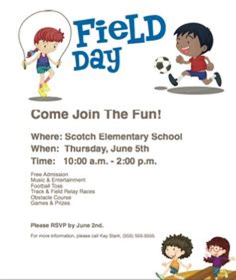 field trip announcement template 1000 images about field day on field day pto
