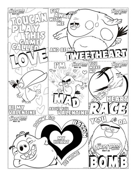 angry birds valentine coloring pages 17 best images about valentine s day on pinterest