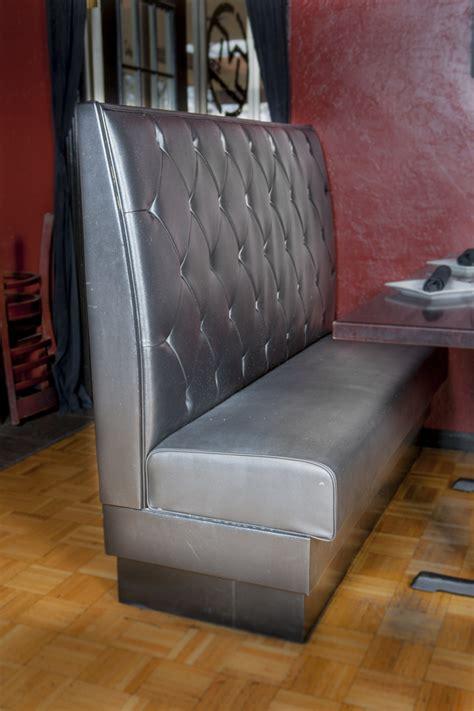 Richards Upholstery by Deja Vu Black Leather Booth Richards Upholstery Richards