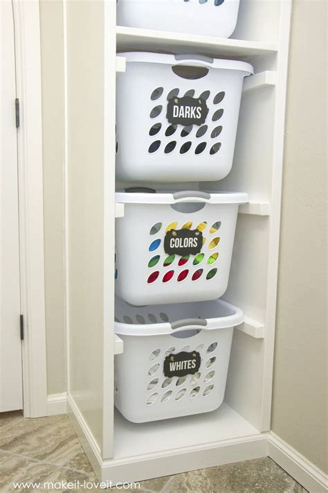 Diy Laundry Basket Organizer Built In Make It And Laundry Divider
