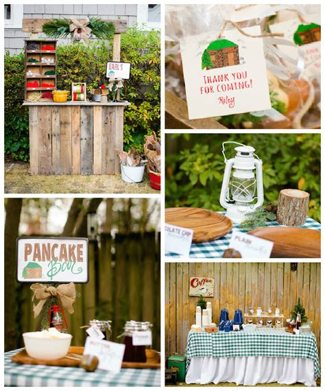 themed decoration ideas kara s ideas rustic mountain lumberjack themed