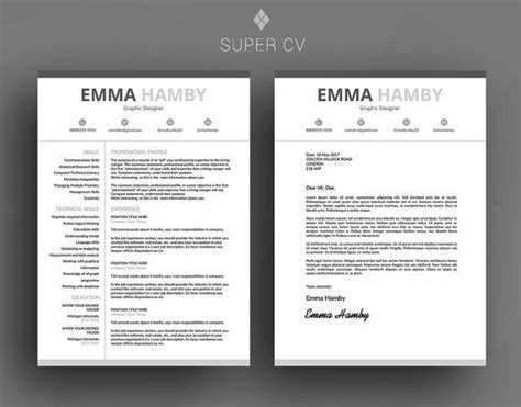 clear cv template professional resume template cv template cover letter