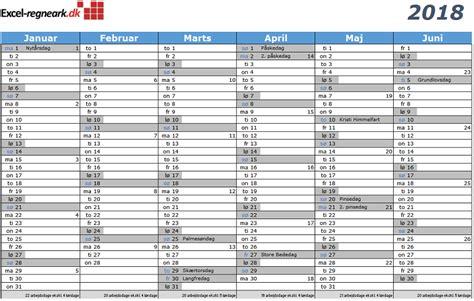 Kalender 2018 Med Uger Arskalender 2016 Helligdage Calendar Template 2016