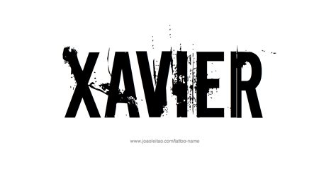 xavier name tattoo designs