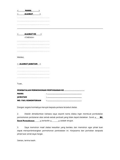 contoh bio fb contoh surat pembatalan pertukaran