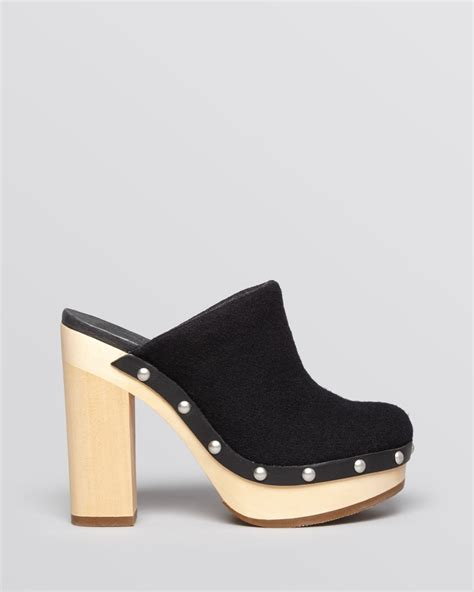 mules and clogs for woolrich platform mule clogs journalist high heel in