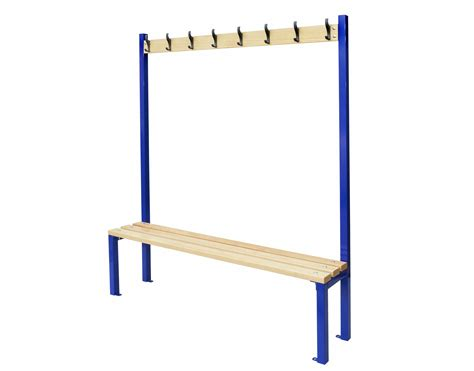 cloakroom bench single sided cloakroom bench security cages direct