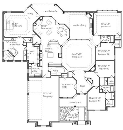 floorplan of a house 25 best ideas about 4 bedroom house plans on