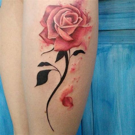 rose tattoo with stem 21 beautiful ideas for page 2 of 2