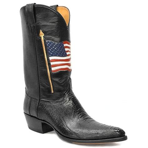 American Handmade Boots - classic retro boots west gun leather western boots