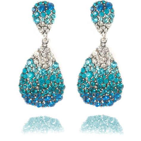 Blue Earring oval earrings blue oval earrings lemonade earrings