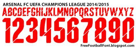 arsenal ucl font free football fonts arsenal fc 2014 2015 uefa chions