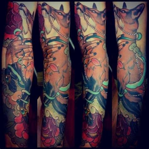 new school japanese tattoo sleeve new school fox sleeve tattoo by emily rose murray