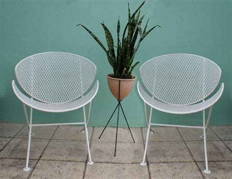 Vintage Patio Chairs Vintage 2 Mid Century Salterini Patio Chair Set Eames Era