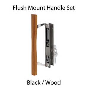 sliding glass patio door handle set black wood pull c