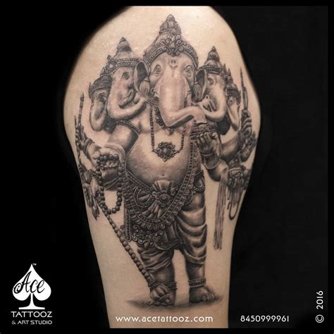 ganesha tattoo lord ganesha tattoos ace tattooz art studio mumbai india
