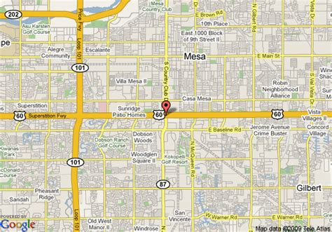 mesa arizona usa map map of inn mesa mesa