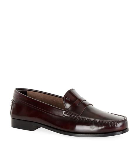 tods leather loafers tod s leather loafer in purple lyst