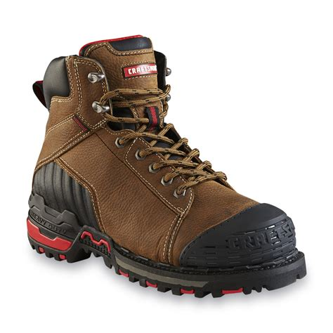 steel toe work boots craftsman s 6 quot waterproof steel toe work boot brown