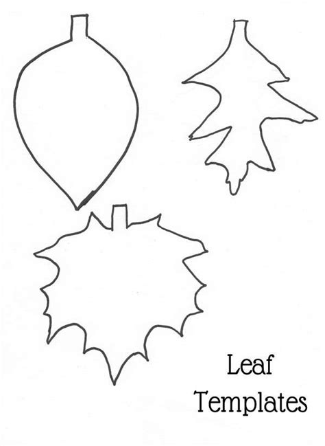 Fall Garland Craft Frugal Family Home Fall Leaf Template Printable
