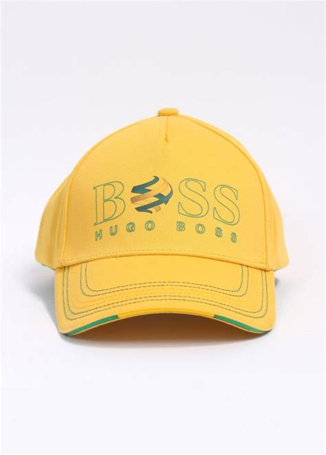 Bright Yellow Accessories by Hugo Accessories Cap Flag Bright Yellow