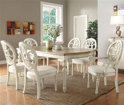 antique dining room chairs home design ideas regarding beautiful antique white dining chairs with rebecca 7 piece