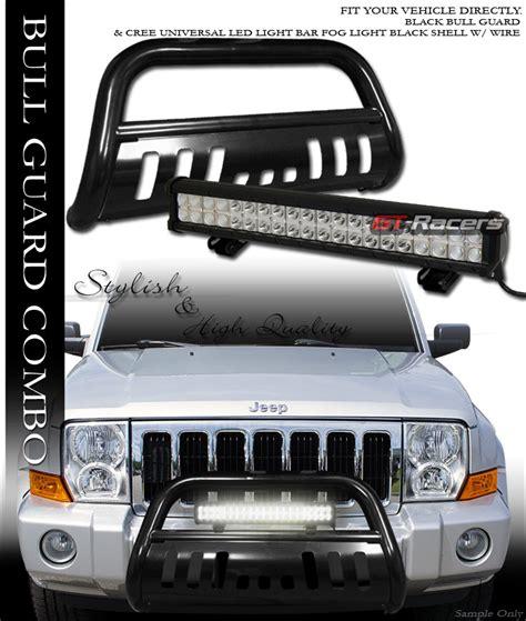 Jeep Commander Light Bar Blk Bull Bar Guard 120w Cree Led Fog Light 05 Jeep Grand
