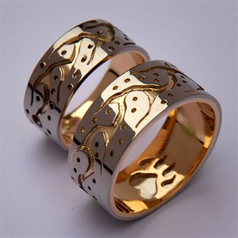 they walk together midewiwin path wedding rings featuring