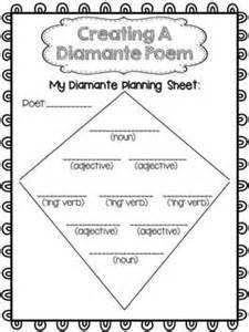 Diamante Poem Template by Poetry Writing Freebie Diamante Poetry