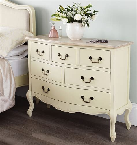 shabby chic chagne furniture cream chest of drawers