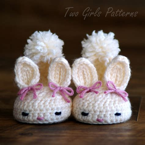 baby house shoes crochet pattern 204 baby booties bunny slipper instant download classic year round