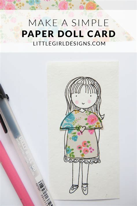 How To Make A Doll Using Paper - how to make a paper doll card designs