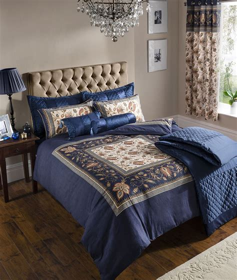 navy and gold bedding catherine lansfield rochester navy blue gold floral duvet