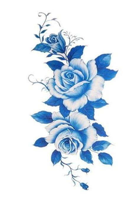 blue flower tattoo designs best 25 blue flower tattoos ideas on blue