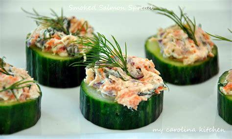 elegant dinner recipes my carolina kitchen smoked salmon tartare on cucumber