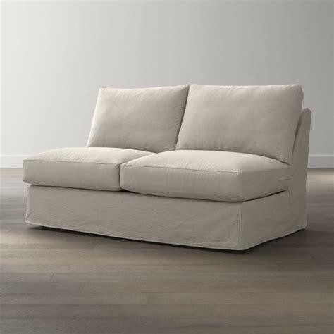 armless sleeper sofa slipcover slipcover only for axis ii armless sectional sleeper