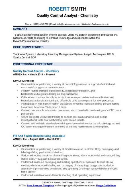 Quality Analyst Resume by Quality Analyst Resume Sles Qwikresume