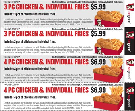 kfc coupons in