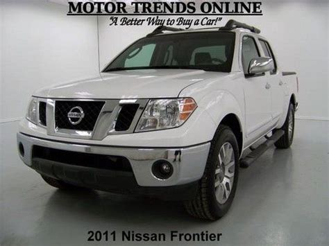 2011 Nissan Frontier Roof Rack by Find Used Sl Crew Cab Leather Htd Seats Roof Rack Bed