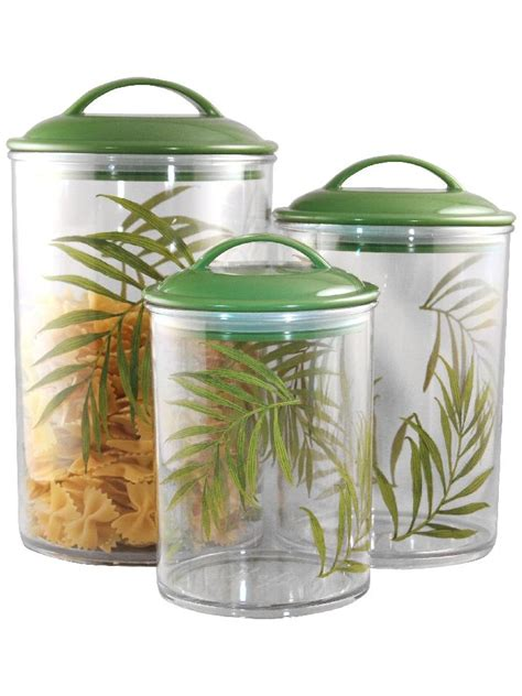Clear Canisters Kitchen by 3 Corelle Clear Acrylic Canister Set See Thru Storage Jars