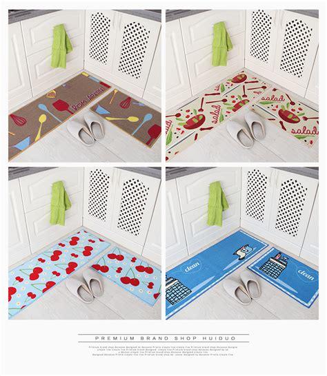 Kitchen Floor Mat Set 2 Pcs Set Kitchen Floor Mat Non Slip Rubber Doormat