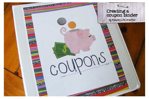 coupon organizing binder inserts