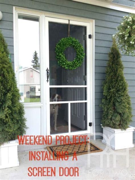 Apartment Door Screen Paint Hang And Install A Screen Door On Your House