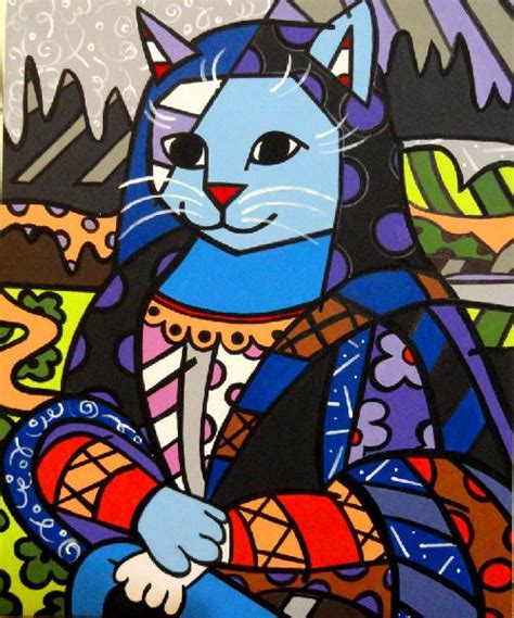 mona cat romero britto el pintor optimista