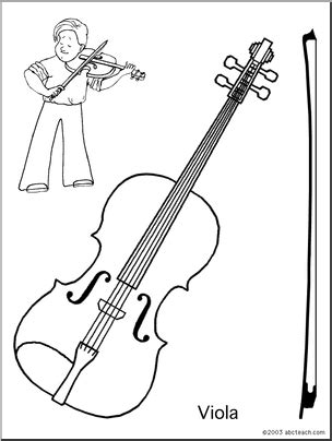 coloring page viola abcteach