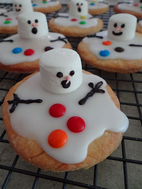 food decorations ideas for christmas food ideas melted snowman biscuits nom nom nom in 2018