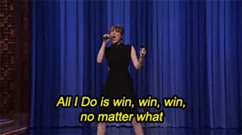 All I Do Is Win Meme - emma stone animated gif